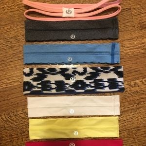 8 very lightly used Lululemon headbands (1)